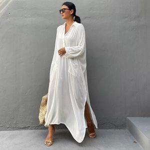 Lillie Bohemian Cotton Maxi Sexy Slit Pocket Dress